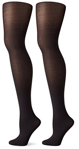2-Pair-Pack Hue Women's Opaque Sheer to Waist Tights - Opaque Sheer