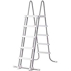 Intex 58971 - Escalera para piscinas de altura de 122 hasta 132 cm, acero