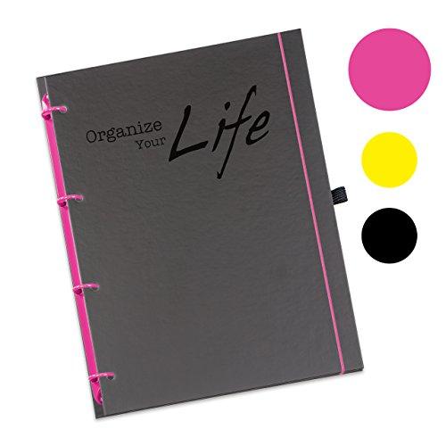 Schaar-Design flexiNotes® ORGANIZER A5 nachfüllbar, Buchkalender 2018, 1 Woche auf 2 Seiten als Planer Typ: A5, ,,OYL', Farbe:Pink, Papier:Organizer Basic - Wochenkalender - Ring L (Pink-organizer Planer)
