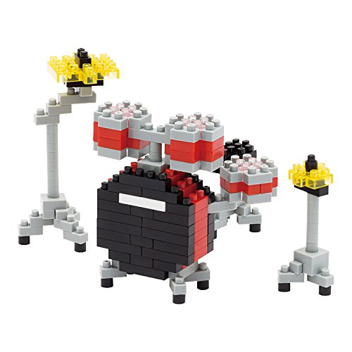 Nanoblock: Drum Kit Construction Toy (Red). Für Schlagzeug -