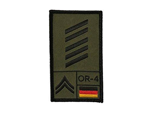 Café Viereck ® Oberstabsgefreiter Bundeswehr Rank Patch mit Dienstgrad - Gestickt mit Klett - 9,8 cm x 5,6 cm