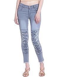 Broadstar Women Denim Grey Jeans