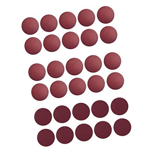 FLAMEER 30 Stücke Schleifscheiben Schleifpapier Set Trocken/Nass für Exzenterschleifmaschinen