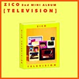 Block B Zico-[Television] 2nd Solo Mini Album CD+Poster (on-pack)+Booklet+Sticker+Toy+Card