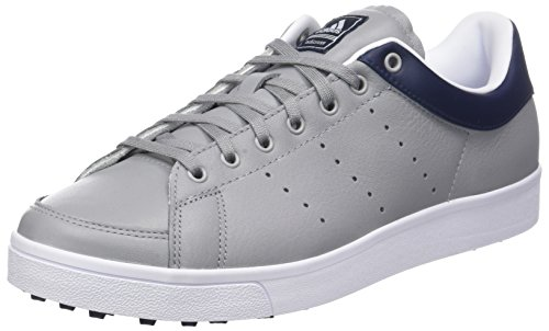 adidas Men's Adicross Classic-Leather Golf Shoes, Grey (Gris F33780), 8 UK