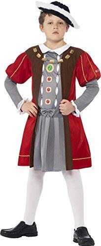 rible Histories Henry VIII Kostüm mit verziertem Tunika und Hut, braun (Henry Viii Kostüm Kind)