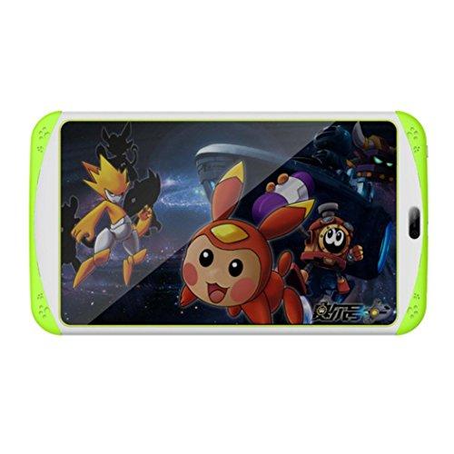 samlike Tablet, 7pollici Quad Core HD Tablet per bambini Android 4.4KitKat Dual Camera WiFi Bluetooth verde verde