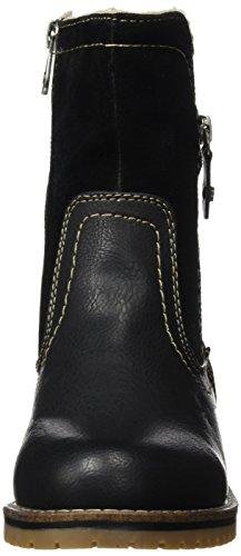 Tom Tailor 1693602, Bottes courtes avec doublure chaude femme Noir - Noir