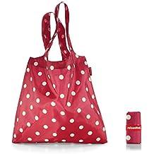 Shopper pieghevole Reisenthel Mini Maxi,color rosso rubino a pois