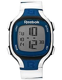 Reebok reloj rc-bl1-u9-pbiw-sb hoja 1silicona/blanco/Classic azul correa. Gris/Azul dígitos Dial.