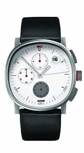 Alessi - AL 5019 - Montre Homme - Quartz - Analogique - Chronographe - Bracelet Cuir Noir