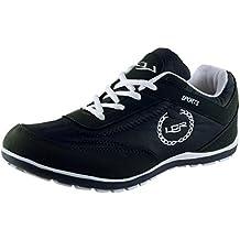 Lancer Men's Black and White Mesh Running Shoes (PERTH-$P)