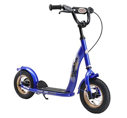 BIKESTAR Roller Kinderroller Tretroller Kickscooter mit Luftreifen für Jungen und Mädchen ab 4-5 Jahre ★ 10 Zoll Classic Kinder Scooter ★ Blau