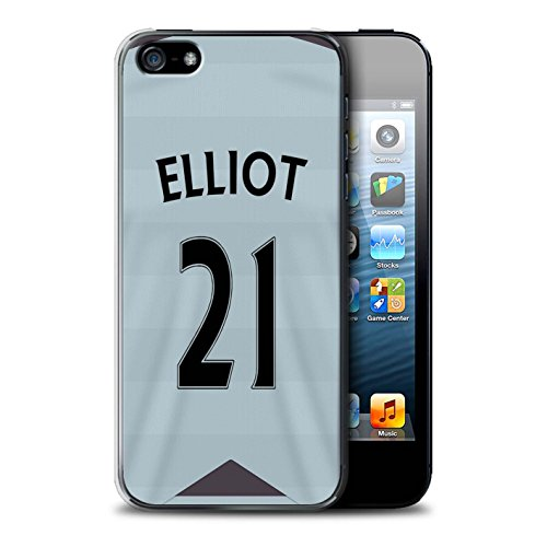 Offiziell Newcastle United FC Hülle / Case für Apple iPhone SE / Pack 29pcs Muster / NUFC Trikot Away 15/16 Kollektion Elliot