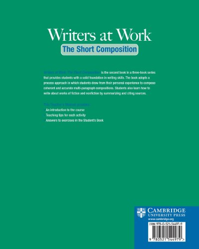 Writers at Work 2nd The Short Composition Teacher's Manual