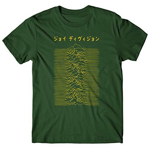 LaMAGLIERIA Camiseta Hombre Joy Division Japan Logo - White Print...
