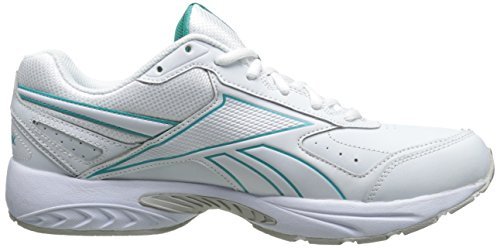 Reebok quotidiano Cuscino 2.0 Rs Walking Shoe White/Timeless Teal
