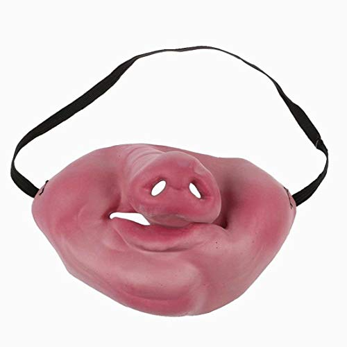 Xiton Halloween Scary Party Clown Latex Maske Cosplay halbe Gesicht Costume(Pig Nose)