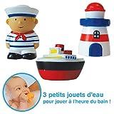 Ludi 2163 - Set de 3 muñecos para el baño, diseño marinero
