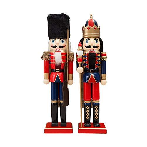 supertop Nussknacker Soldaten Geschenk Set Weihnachtsgeschenk Dekoration Holzsoldat Nussknacker auf...