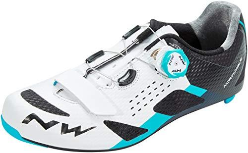 Northwave Storm Carbon Rennrad Fahrrad Schuhe weiß/blau 2020: Größe: 42