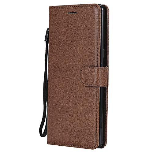 Artfeel Flip Brieftasche Hülle für Huawei P Smart Plus, Huawei Nova 3i Premium PU Leder Handyhülle mit Kartenhalter,Retro Bookstyle Stand Abdeckung mit Magnetverschluss Handschlaufe Hülle-Braun -
