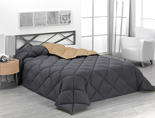 Sabanalia - Edredón nórdico de 400 g reversible (bicolor), para cama de...