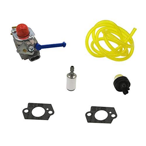 Cancanle Carburateur Filtre à Carburant Primer kit d'ampoules pour Husqvarna 124 l, 125 l LD, 128 C CD L LD Scie-Cloche inclinée, 128 R RJ DJX Tondeuse Zama C1q-w40 a 1 Set