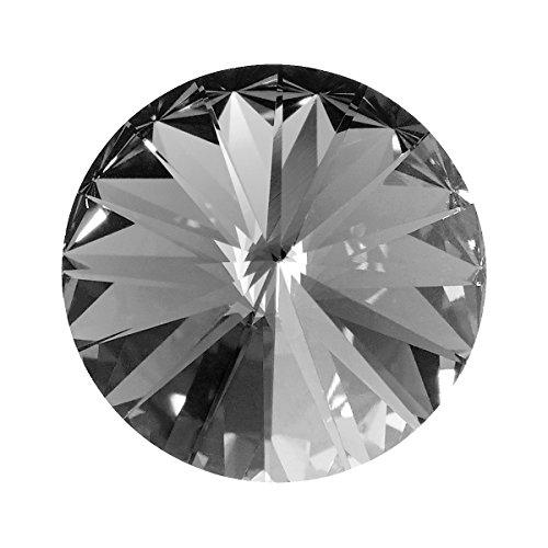 Swarovski Wechselstein für Schmuck 1122 Rivoli Stein Kristall foliert 10mm crystal black diamond (Diamond Black Stein)