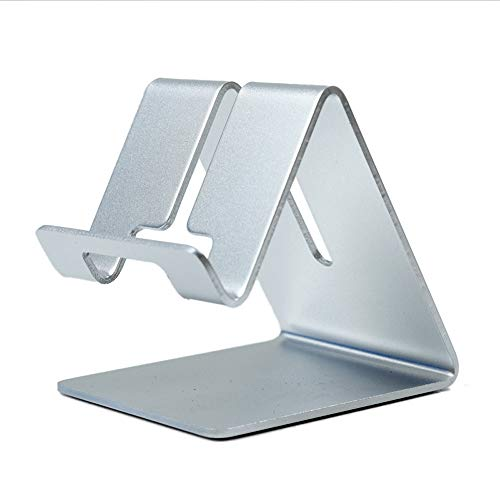 Preisvergleich Produktbild AXWT Aluminiumlegierung Metall Handy Unterstützung Desktop Wohnung Ipad Allzweck Huawei Apple Faule Nacht Live Broadcast Halterung Halter Ständer Trestle (Color : Silver)