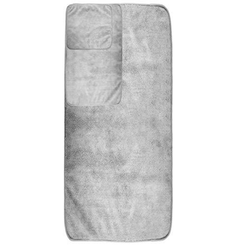 Polyte Beige Set 2 Pezzi Telo Bagno in Microfibra Anti-Pelucchi 88,9 x 177,8 cm ad Asciugatura Rapida