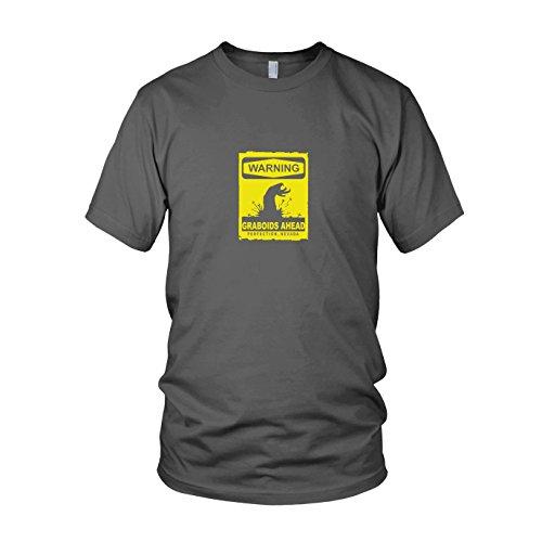 Preisvergleich Produktbild Warning Graboids - Herren T-Shirt, Größe: XL, Farbe: grau