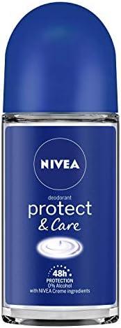 NIVEA Deodorant Roll On, Protect & Care,