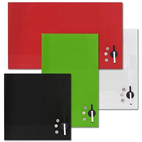Rapid Teck memo Board CRISTAL Pizarra magnética Panel de vidrio incl. Accesorio IMANTADO Pizarra blanca pizarra magnet-board - blanco, 100cm x 60cm
