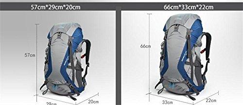 ALUK-All'aperto borsa tracolla alpinismo sospensione impermeabile e traspirante cavallo zaino da viaggio leggero rosso