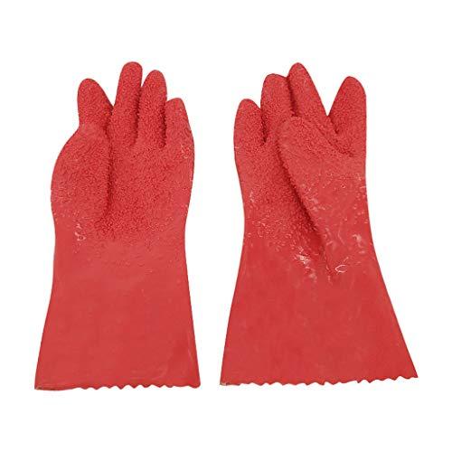 Happy Event Handschuhe Reinigungsbürste, 1 Paar Peeling Kartoffelhandschuhe Peeling Gemüse Fischschuppenhandschuhe rutschfest (Gusseisen Wartung)