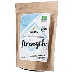 Huaora Strength - Proteína de arroz integral, proteína de guisante y proteína de semilla de calabaza   Proteínas Vegetales Orgánicas en Polvo   Sin Gluten y apto para Veganos