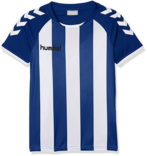 Hummel Jungen Core Striped SS Jersey Trikot, True Blue/White, 116-128 (Streifen-true Blues Shirt)