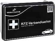 Botiquín WALSER 44262 KFZ negro según DIN 13164, botiquín de primeros auxilios del coche, bolsa de primeros au