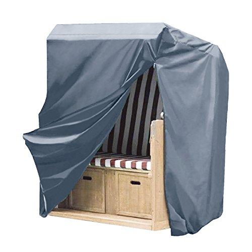 WOLTU GZ1160an Housse de Protection pour Chaise de Plage résistante aux déchirures,Couverture Meubles de Jardin en 600D Oxford imperméable,135-165x125x90cm,Anthracite
