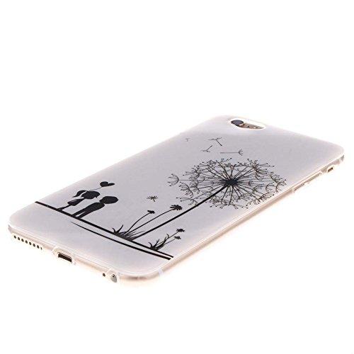 "Hülle für Apple iPhone 6 Plus 6S Plus 5.5"" Handyhülle Dünn Stil Licht Flexibel TPU Gel Case Bumper Malerei Muster Schwarz Löwe Farbe-5"