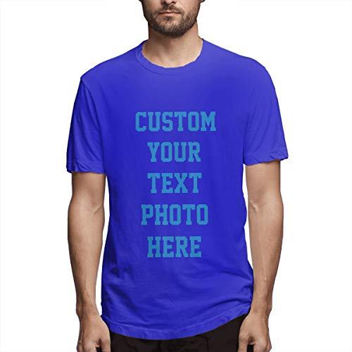 Personalisierte Herrenbekleidung - 2-seitiges T-Shirt - Gestalten Sie Ihr persönliches T-Shirt(Blue S) -