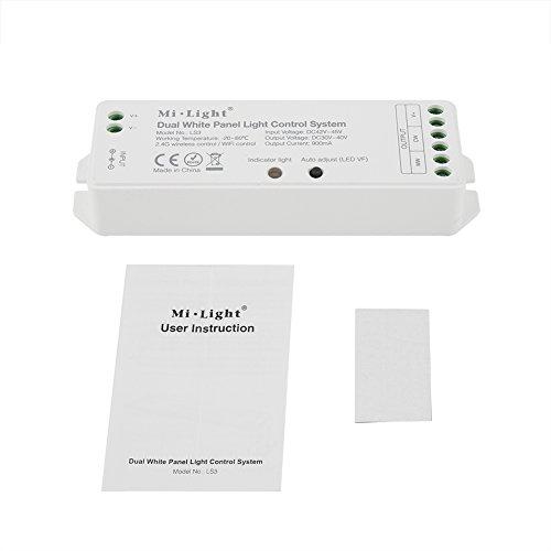 Fdit LED Panel Light Dual weiß Licht Control System auf Wand Deckenleuchte Helligkeit Farbe Temperatur Verstellbar (Deckenventilator Schattierungen)