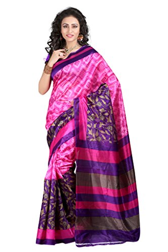 Women's Clothing Saree Designer Party Wear Buy Online in Low Price Sale Offers Pink Color Art Silk Fabric Free Size Sari With Unstitched Blouse  available at amazon for Rs.259