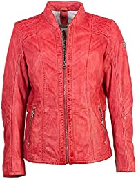 9b26fe79721b Gipsy Ausdrucksstarke Damen Echtleder Lederjacke Bikerjacke Farbe rot