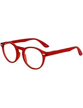 Inlefen Gafas de lectura redondas retro para hombres y mujeres Gafas de moda para lectura +1.0 a +3.5