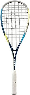 Dunlop Squashschläger Biomimetic Evolution 130 - Raqueta de squash ( carbono, cubierta ), color negro / azul, talla única