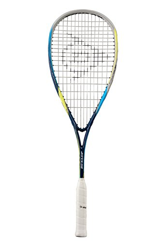 Dunlop Squash Racket Biomimetic Evolution 130 HL Schwarz/Blau/Gelb, One Size