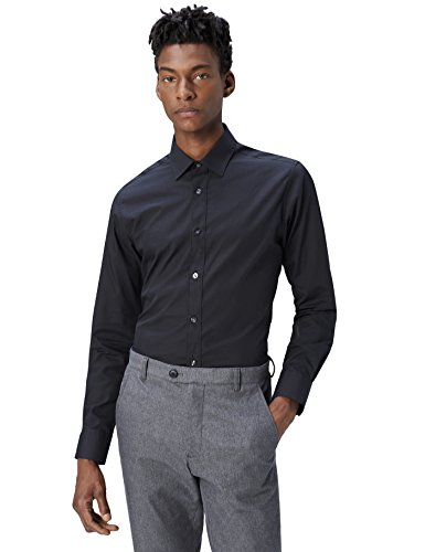 Find., regular fit formal, uomo, camicia formale, nero (black 101), x-large