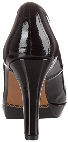 s.Oliver 22400, Scarpe con Tacco Donna Nero (BLACK PATENT 18)